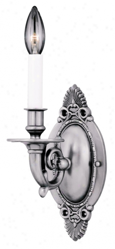"""Pewter Finish 12"""" High Wall Sconce (92333)"""