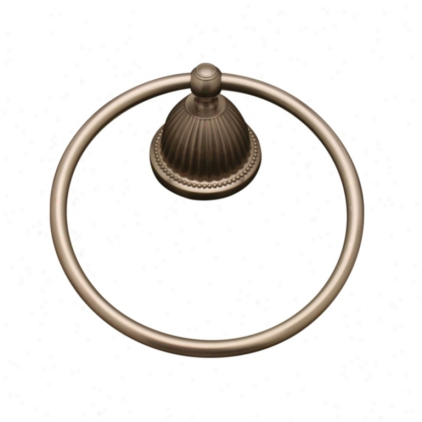 Pewter Finish Towel Owner Ring (55905)