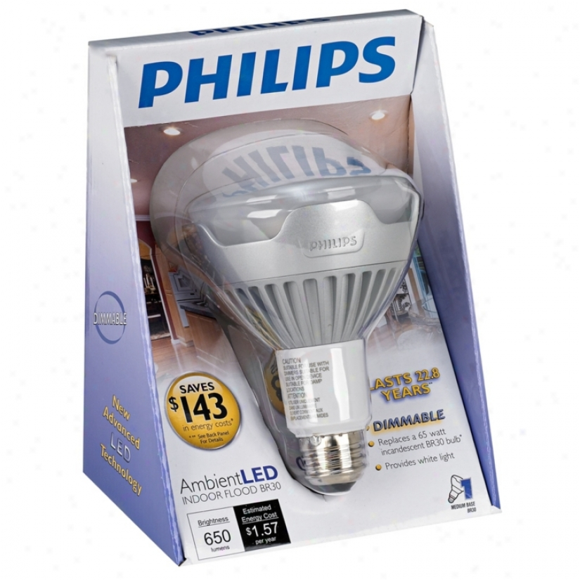 Philips Ambient Led 13 Watt Br30 Indoor Folod Light Bulb (u5879)