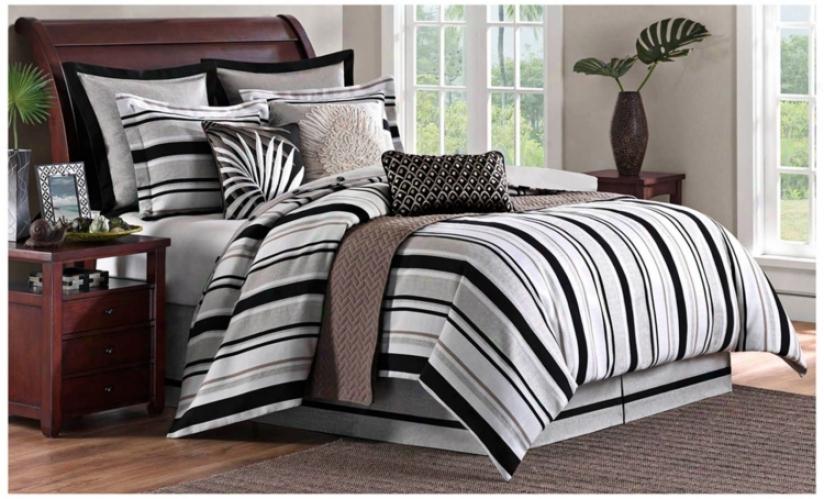 Pine Manor Comforter Bedding Concrete (queen) (t9304)