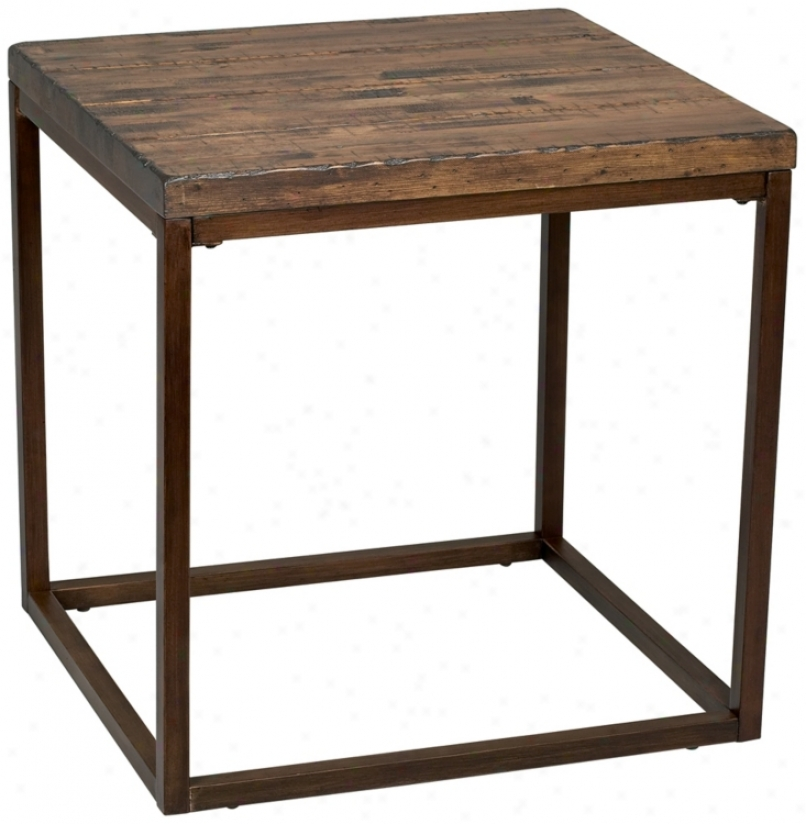Pinecrest Natural Pine Rectangular End Table (p5073)