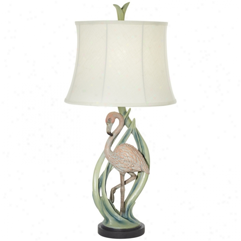 Pink Flamingo Tropical Table Lamp (v2242)