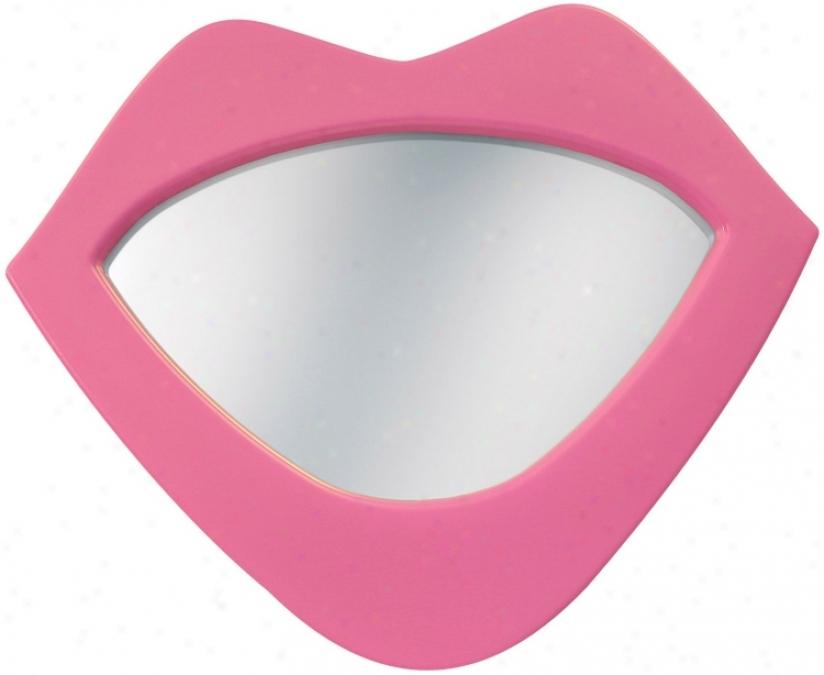 "Pink Lips 22"" High Wall Mirror (70048)"