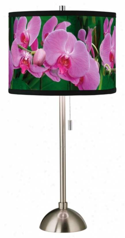 Pink Orchids Giclee Shade Table Lamp (60757-81684)
