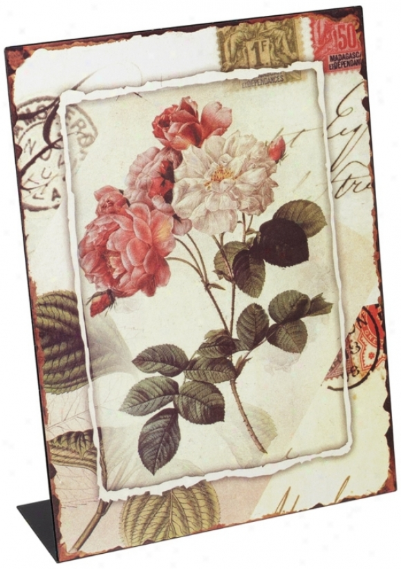 Pink Roses Tabletop Magnetic Message Board (u4174)