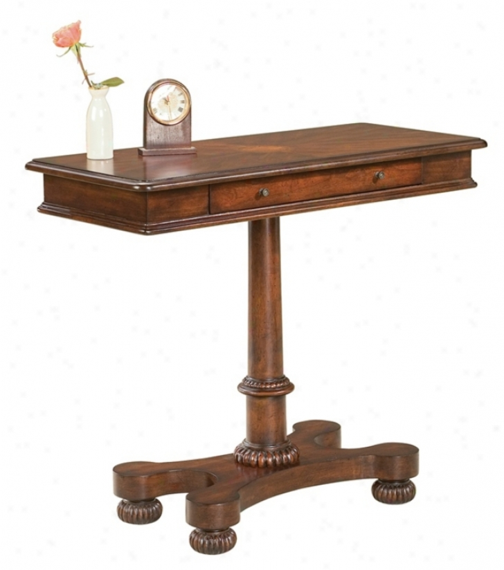 Plantation Cherry Collection Pedestal Console Table (m4035)