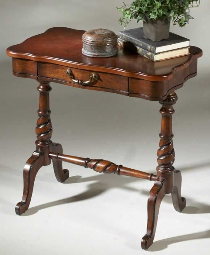 """Plantation Cherry Finidh Attending Drawer 26"""" Hith Accentuate Table (g2738)"""