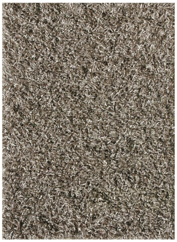 "Platinum Shag Ps-01 Taupe 7'6""x9'6"" Area Rug (v9176)"