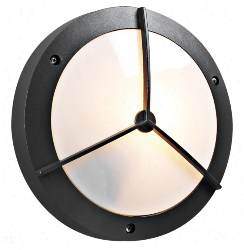 """Plc Bronze 14"""" Wide Round Ceiling Or Wall Outdoor Light (98388)"""