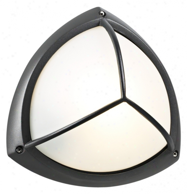 "Plc Bronze Finish 10"" Wide Ceiling Or Wall Exterior Light (99415)"
