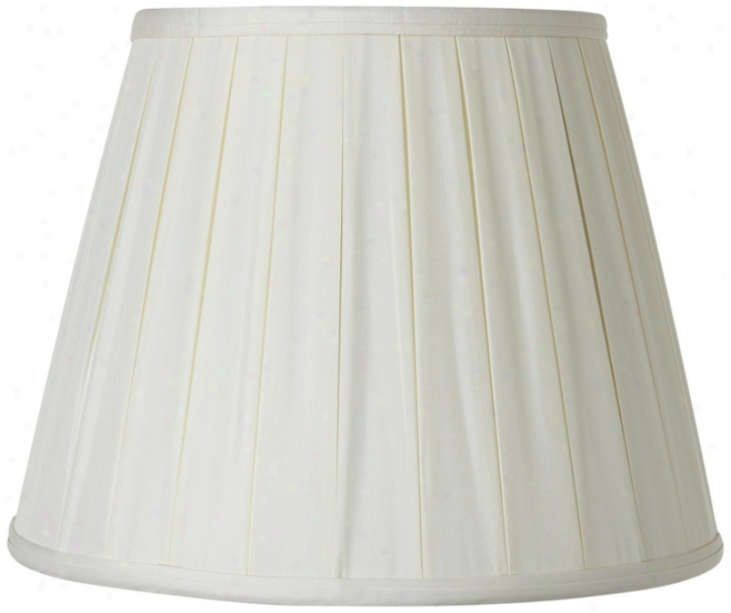 Pleated Oyzter Silk Empire Lamp Shade 7x12x9 (spider) (v1753)