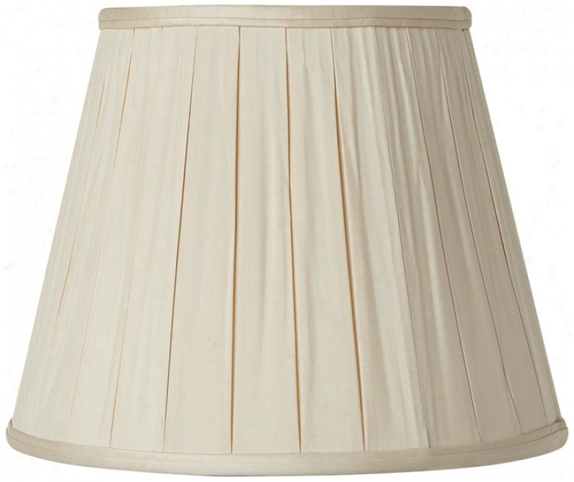 Pleated Sand Silm Empire Lamp Shade 10.5x16x12 (spider) (v1762)