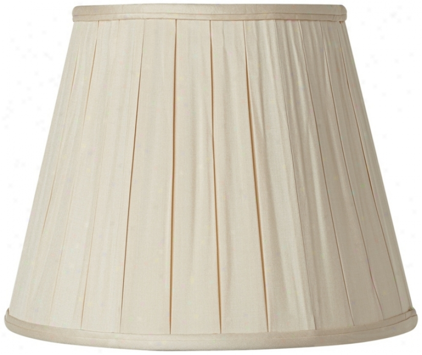 Pleated Sand Silk Empire Lamp Shade 11x18x13.5 (spider) (v1764)