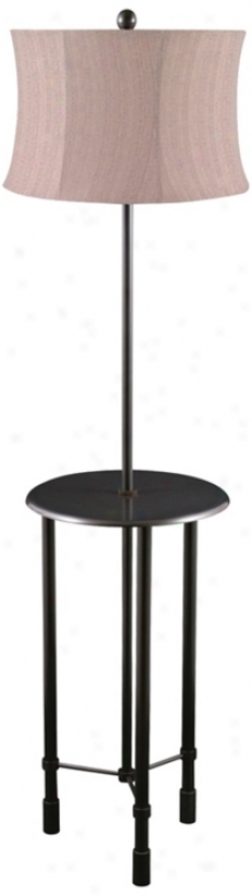 Poise Oil-rubbed Bronze Tri-leg Floor Lamp Attending Tray Table (v0496)