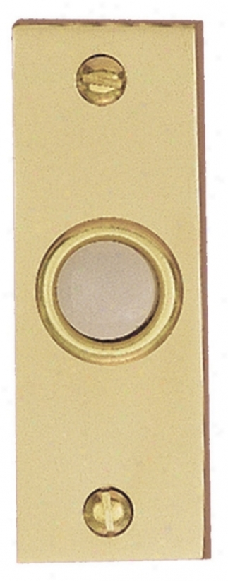Pokished Brazs Bar Style Lighted Doorbell Button (k6242)