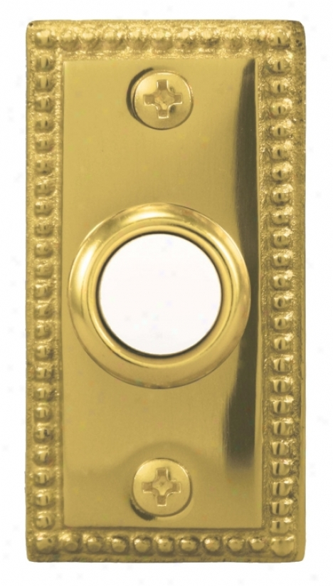 Polished Assurance Beaded Lighted Doorbell Button (k6243)