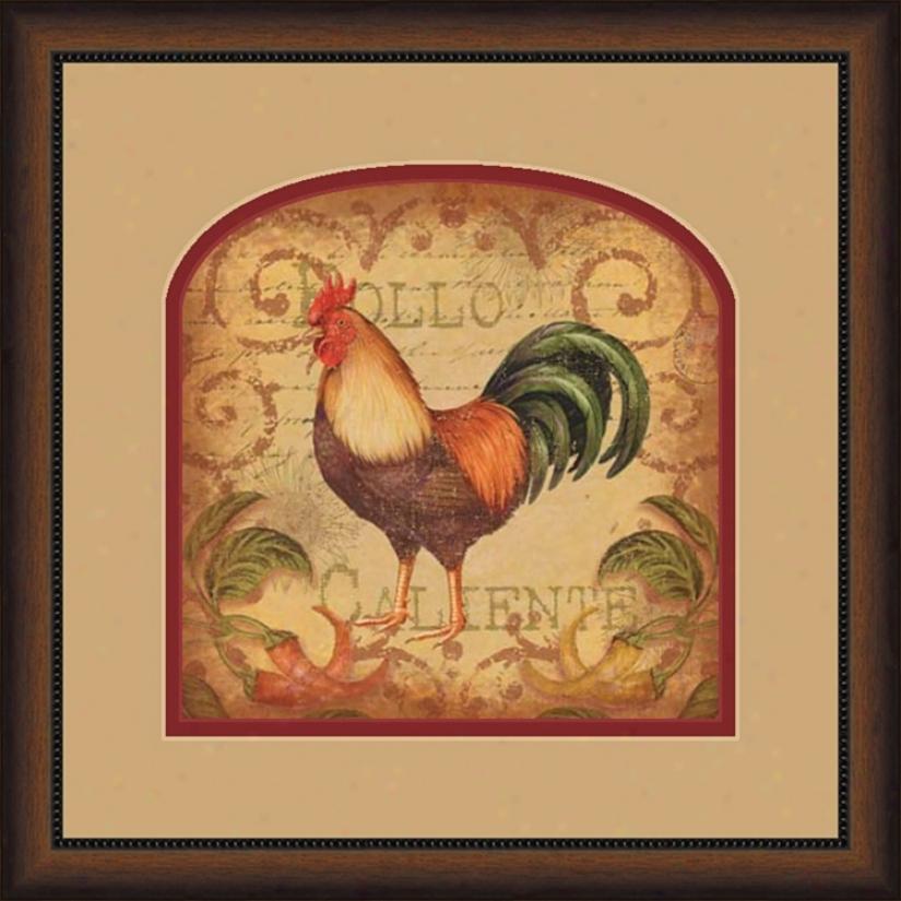 """Pollo Caliente B 19 3/4"""" Square Wall Art (02251)"""
