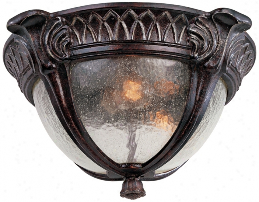 "Pompia Distressed Bronze 15"" Wide Outdoor Ceiling Candle (j6493)"