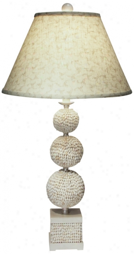 Poodle Shell Table Lamp By The Natural Light (f9388)