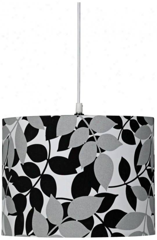 Pop Art Two-tone Leaf Print Teardrop Pendant Chandelier (u4081)
