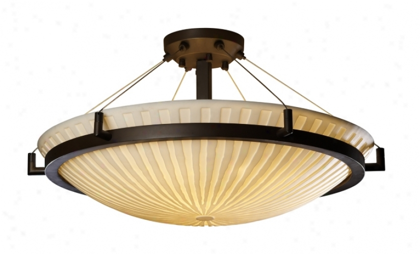 "Porcelina Waterfall Bronze 38 3/4"" Wide Ceiling Light (26397)"