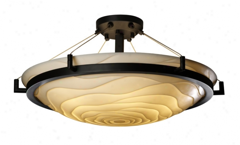 "Porcelina Wave Bronze 20 1/2"" Wide Ceiling Light Fixture (25427)"