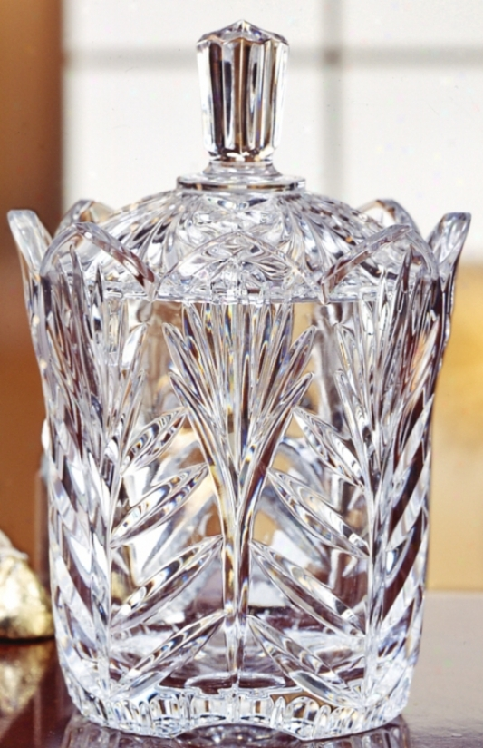 Covered walk Faceted Crystal Jelly Jar (g5251)