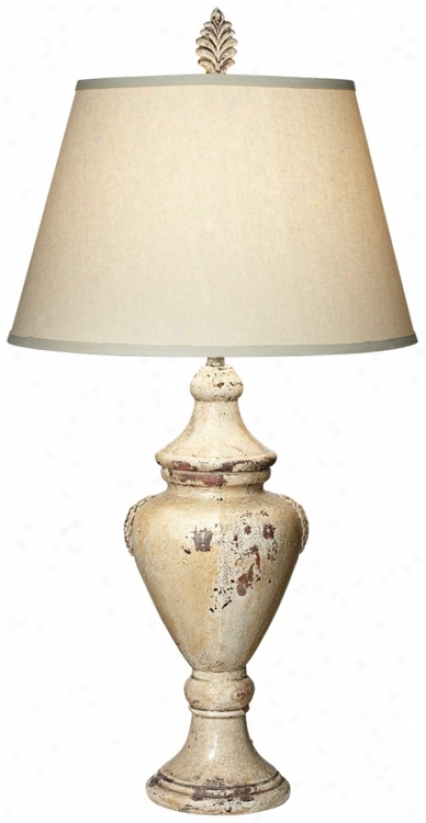 Possini Beige Tuscan Jar Ceramic Table Lamp (v2453)