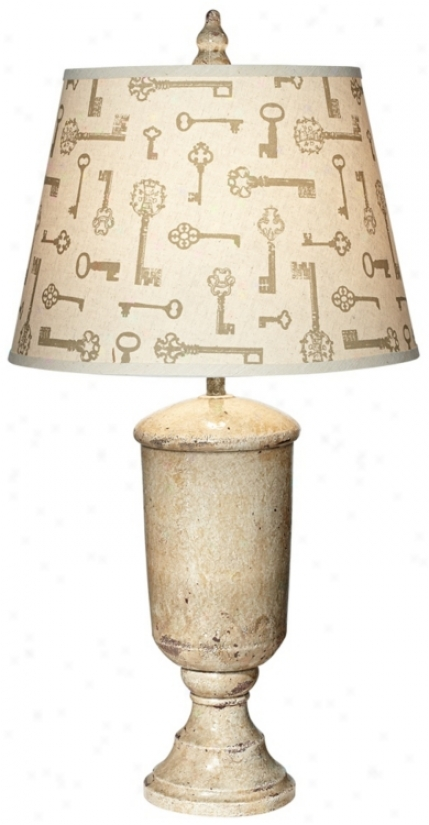 Possini Beige Tuscan Urn Buffet Lamp (v2438)