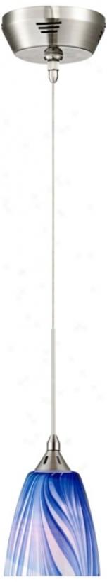 Possini Azure Swirl 5&quof; Wide Art Glass Mini Pendant (r1727)