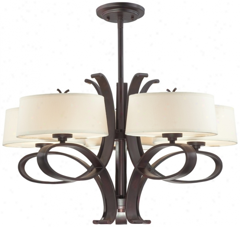 "Possini Bornze Curled Iron 27 3/4"" Wide Chandelier (p2775)"