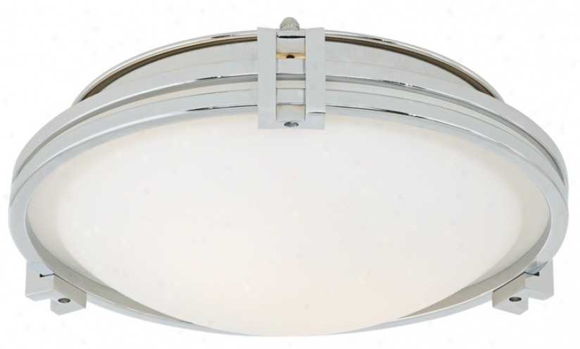 "Possini Chrome 12 3/4"" Flush Tower Ceiling Light (n0281)"