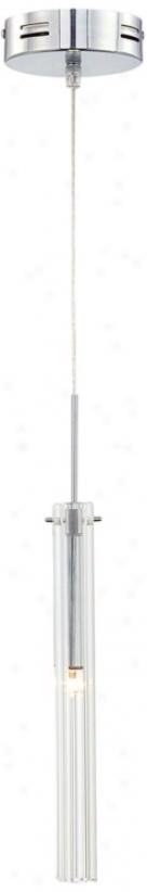 Possini Clear Glass Tube Mini Pendant Light (n6753)
