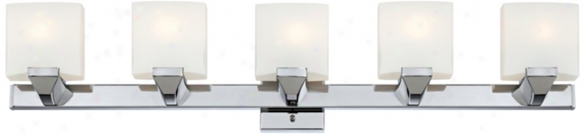 "Possini Contempo 36 3/4"" Wide Chrome Bathroom Wall Light (u1120)"