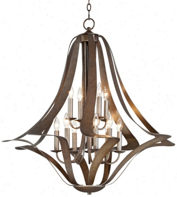 Possini Corinthian Bronze Twist 12-light Comprehensive Chandelier (t5022)