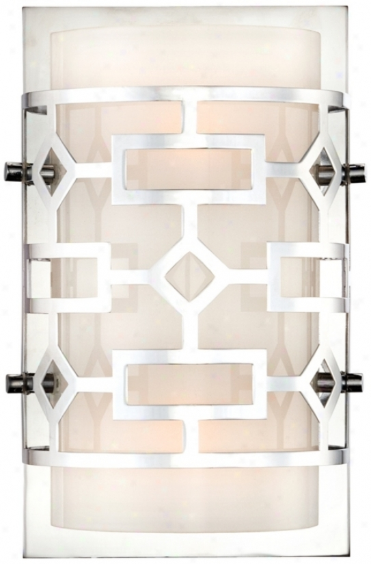 "Possini Cut-out Chrome 9"" High Wide Wall Mulct (u8163)"