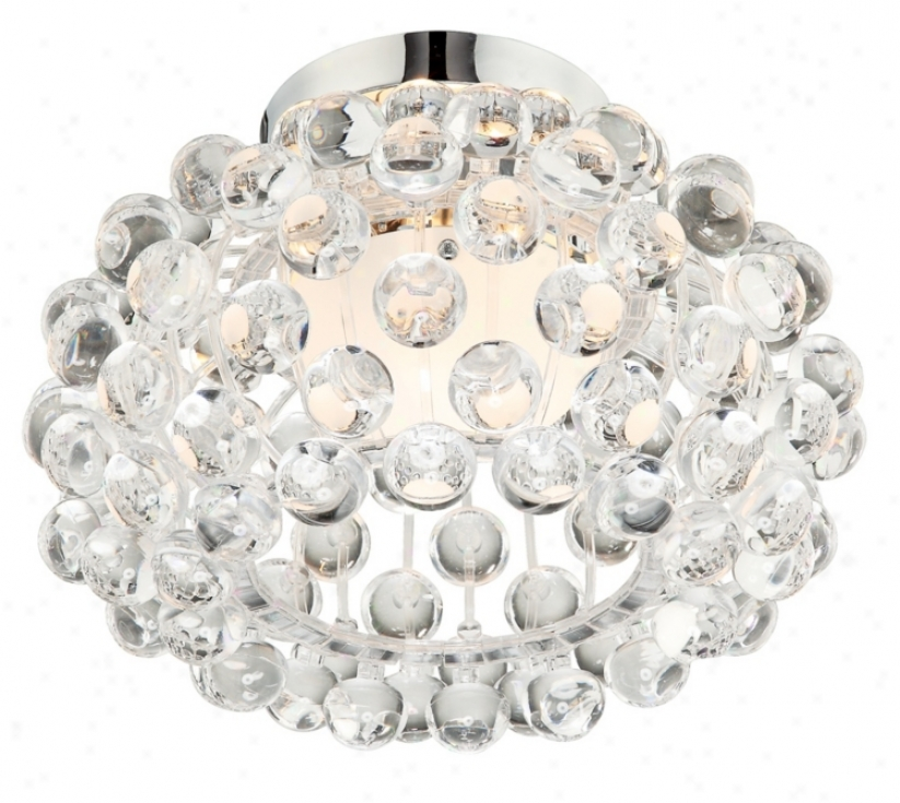 Possini Euro Acrylic Ball Chrome Flushmount Ceiling Fixture (12045)