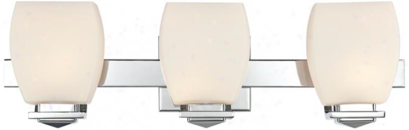 "Possini Euro Chrome 22"" Wide Bathroom Wall Light (u1773)"