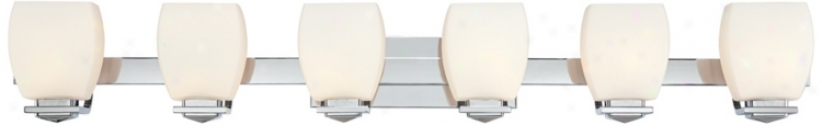 Possini Euro Chrome 6-light Bathroom Wall Light (u2827)
