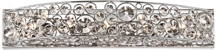 Possini Euro Chrome And Crystal Bathroom Light Fixutre (t8326)