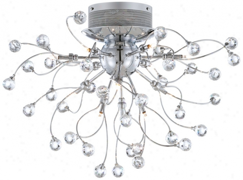 Possini Euro Crystal Balls 23 1/2&quuot; Wide Ceiling Instruction (r8611)