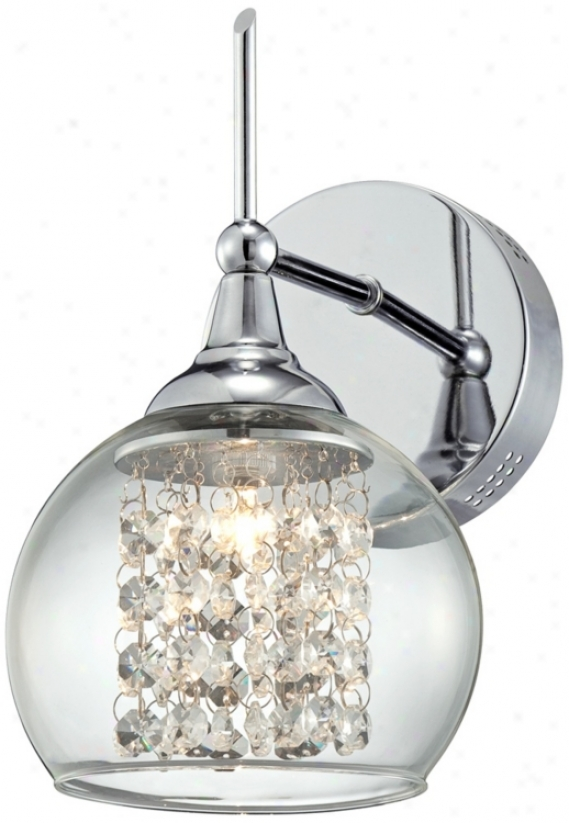 "Possini Euro Crystal Rainfall 10"" High Wall Sconce (t4355)"
