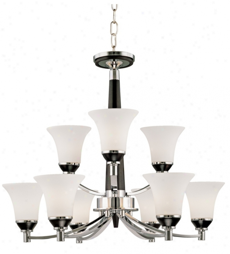 Possini Euro Design Dark And Chrome Sleek Chandelier (16874)