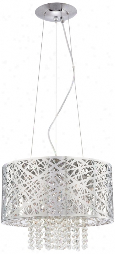 Possini Euro Design Chrome Nest With Crystal Pendant (m9900)