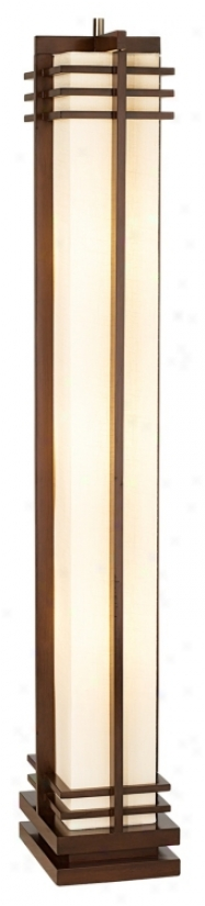 Possini Euro Design Deco Denominate Walnut Column Floor Lamp (48254)