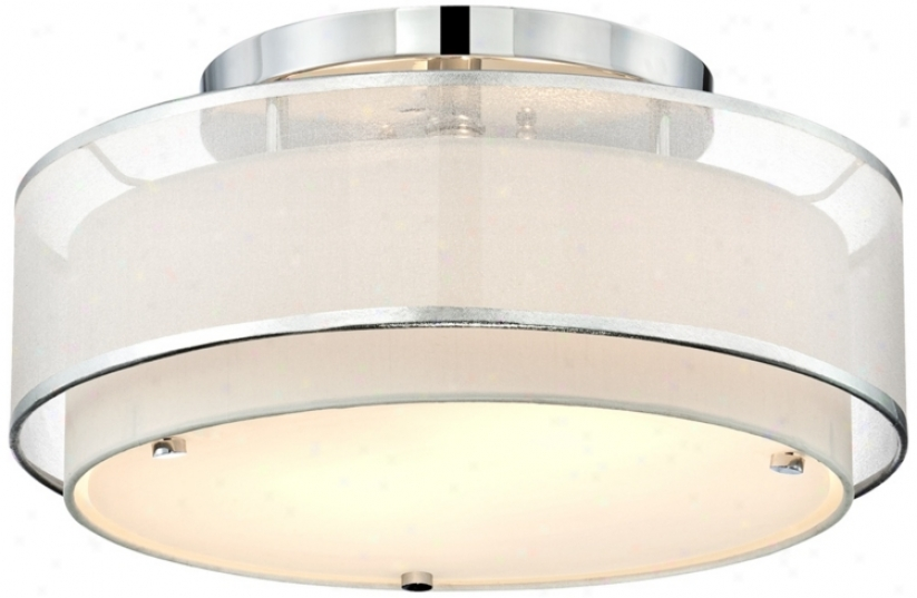 "Possini Euro Design Double Organza 16"" Wide Ceiling Light (t9756)"