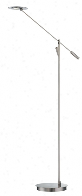 Thumprints acacia with ivory shade table lamp m6939 for Flat led floor lamp