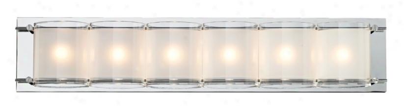 """Possini Euro Design Glass Bands 23 3/8"""" Wide Bath Light (63328)"""