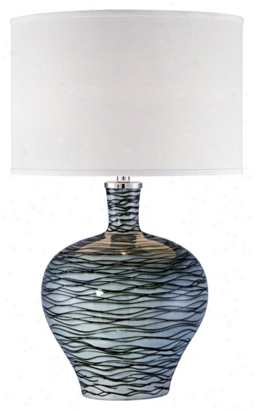 Possini Euro Design GreenW ave Ceramic Table Lamp (u2655)
