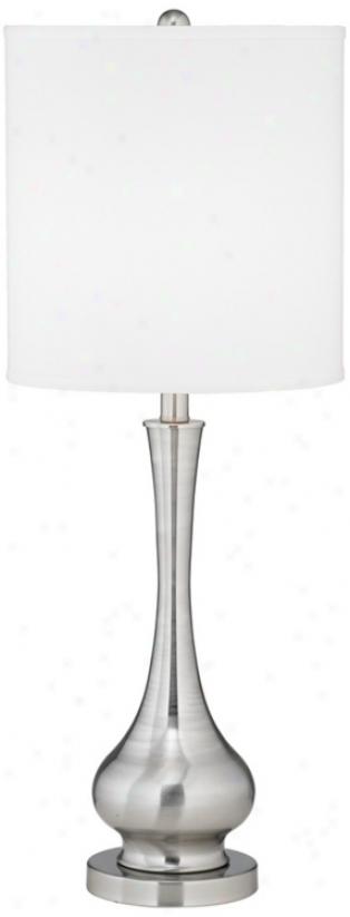 Possuni Euro Design Satin Steel Slim Gourd Table Lamp (m0475)